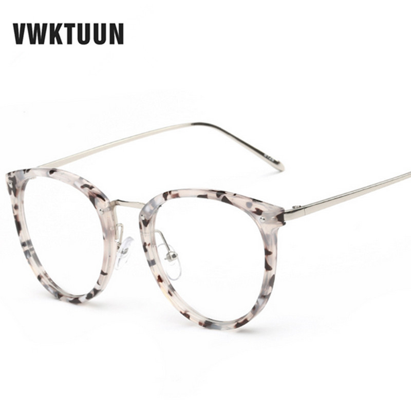 VWKTUUN Nyeste Goggles Kattøye Eyeglasses Frame Vintage Glasses Women Men Glasses Frame Optical Frame Glasses Oculos Femininos