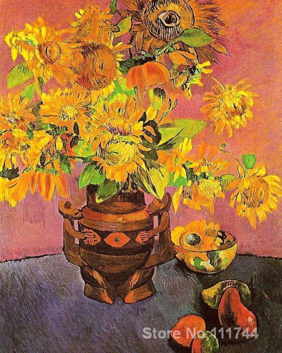 подсолнухи гогена