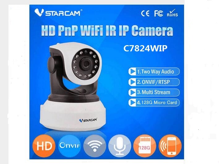 imágenes para VStarcam C7824WIP 2Way Talk Visión Nocturna Cámara IP Wifi Inalámbrico de Cámaras de Seguridad de Red de Audio Baby Monitor de Interior