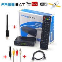 Chaud Freesat V7 HD AC3 DVB-S2 Satellite IKS CS Cccam Newcam récepteur TV boîte automatique rouleau puissance Vu Biss clé décodeur + USB WiFi