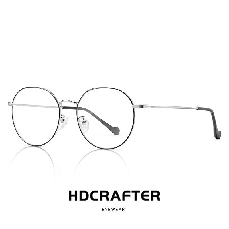 Alloy Blue Light Blocking Glasses Frame Men Ultralight Women Vintage Round Prescription Eyeglasses Retro Optical Frame Eyewear