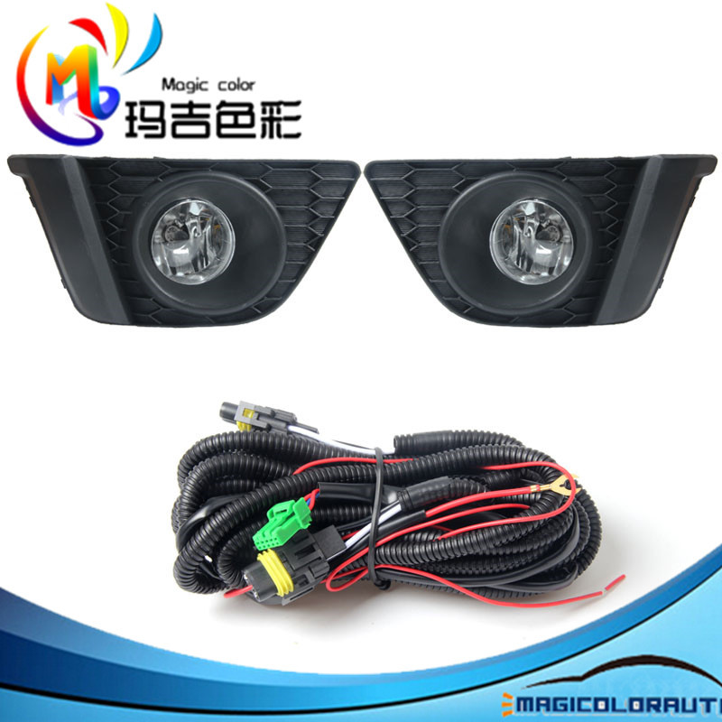 Full Kit Wires Harness Switch Bumper Light Driving Fog Lamp for ...