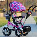 Girando 1-3 criança bicicleta triciclo carrinho criança bicicleta carrinho de bebê inflável