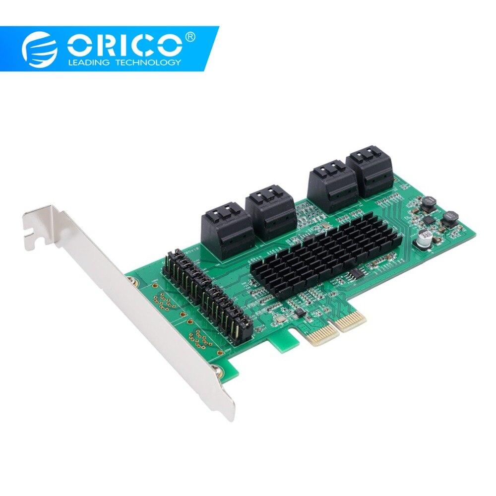 ORICO 8 Ports SATA3.0 PCI-E Express Carte D'extension Adaptateur 6 Gbps PCI Express Marvell9215 et Marvell 88SM970 Puce De Contrôle Pour Windows