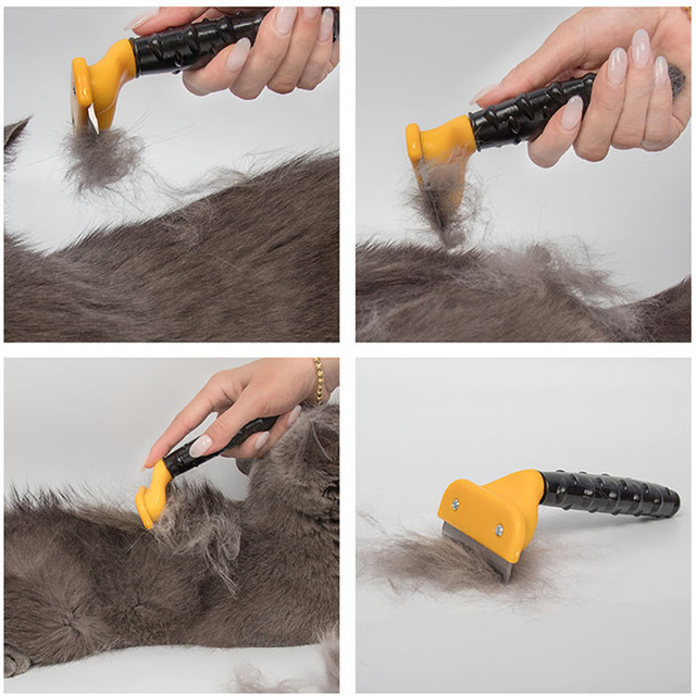 Hot Sale Pet furmins Hair Removal Comb Dog Short Medium Hair Brush Handle Beauty Brush Accessories Comb For Cats Grooming Tool   2