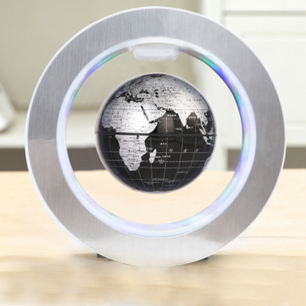6'' Geography World Globe Magnetic Floating Globe LED Levitating Rotating Tellurion World Map School Office Supply Home Decor