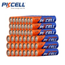 24x PKCELL Alkaline Battery 1.5V LR6 AA AM3 Batteries+24Pcs LR03 AAA Alkaline Dry Batteries 1.5V 3A AM4 Battery