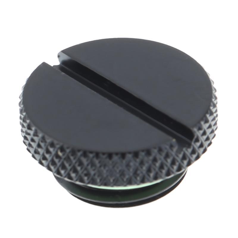 Черный G1/4 латунная резьба низкий профиль разъем для ПК водяного охлаждения разъем радиатора резервуар CoolerComputer компоненты аксессуары