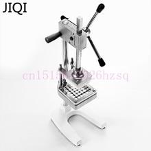 JIQI нержавеющая сталь для дома фри фрезы картофельные чипы полосы овощерезка машина для резки измельчитель с 3 лезвиями