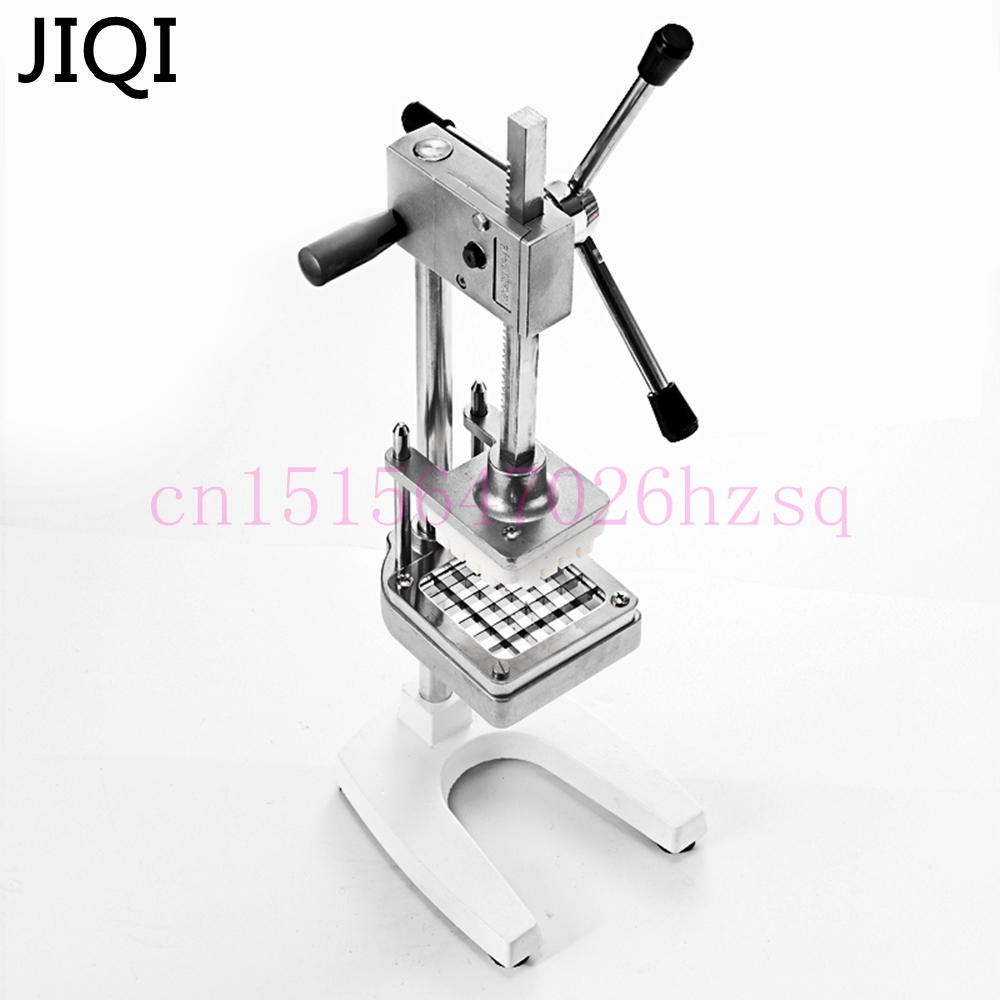 JIQI Stainless Steel Home French Fries Cutters Potato Chips Strip Vegetable Cutting Machine Maker Slicer Chopper With 3 Blades
