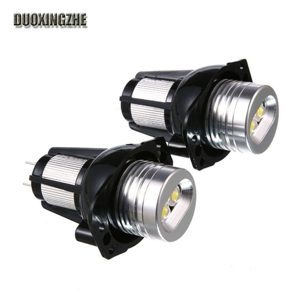 1 пара для BMW Е39 Е53 Е60 и E61 E63 и e64 отличное качество Ксеноновые белый светодиод Ангел глаз Halo лампочка
