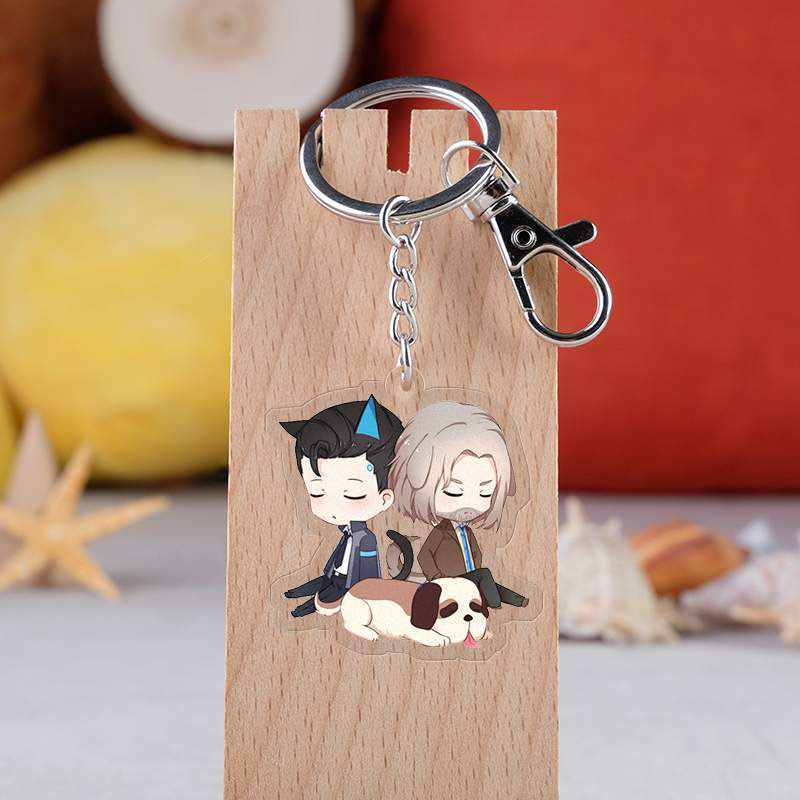Game Detroit:become Human Acrylic Keychain Double-side Pendent Keyring