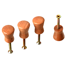 DSHA New Hot 4 pcs 1.8cm Diameter Wood CabInet Drawer Pull Knobs Handle