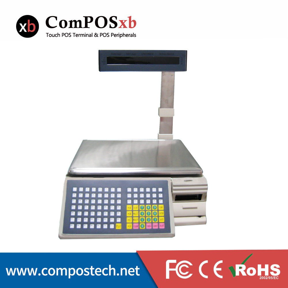 free shipping Commercial TM-Ad electronic scanner scale weighing scale label printing barcode printing