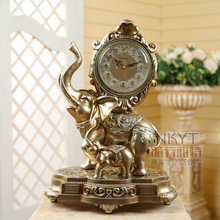 18 Inches Table Clock Europe Type Restoring Ancient Elephant Clock Antique Clock Fashion Creative Decorative Furnishing Articles