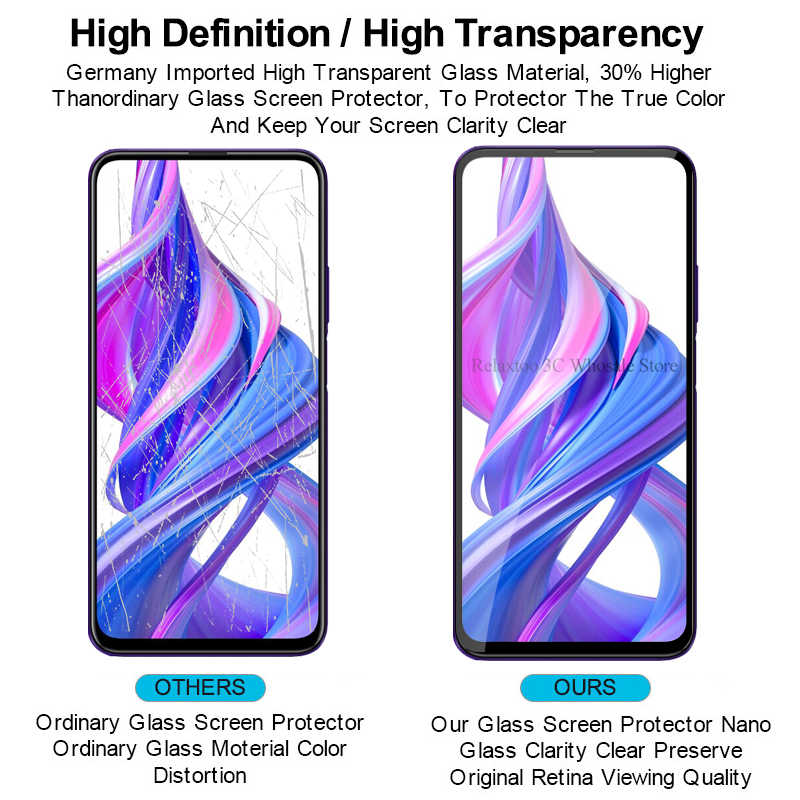2in1 9D Full Lem Kaca Pelindung untuk Huawei Honor 9 X Lensa Kamera Armor Safety Di Honor 9 X Honor 9x STK-LX1 Premium Film