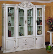White Wine cooler Classic wood wine cabinet Four