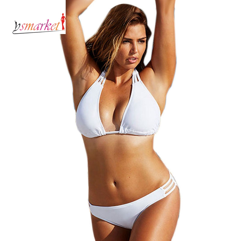 White Black String Plus Size String Bikini Swimwear XXL XXXL XXXXL 3XL 4XL Halter Push Up Big Size Swimsuit Bathing Suits 41222 xxl xxxl xxxxl plus size swimwear set new bikini big women ladies sexy vintage retro padded push up swimsuit bathing suit