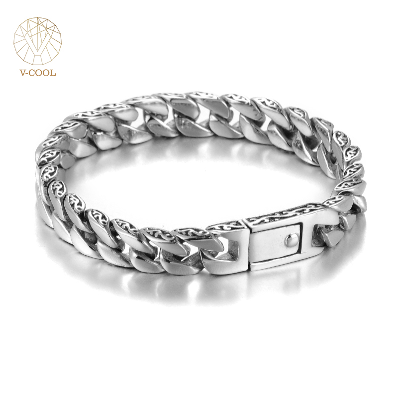 VCOOL Personalized Glossy Stainless Steel Link Chain ...