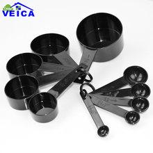 Пластиковые мерные чашки 10 шт/лот 3 цвета мерная ложка кухонные