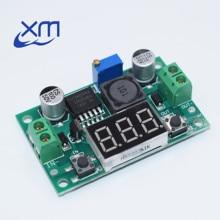 Дешевые LM2596S LM2596 DC 4,0~ 40 до 1,3-37 в Регулируемый понижающий модуль питания+ светодиодный вольтметр DC-DC модуль