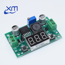 Cheap LM2596S LM2596 DC 4.0~40 to 1.3-37V Adjustable Step-Down Power Module + LED Voltmeter DC-DC module
