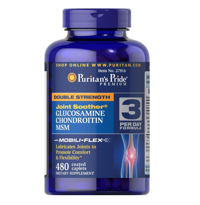 American origin Double Strength Glucosamine Soother 480 Caplets