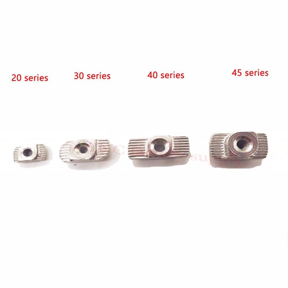 Acero al carbono tipo T loca Fijación de aluminio conector M3 M4 M5 de la UE estándar de 2020 perfil de aluminio Industrial para Kossel
