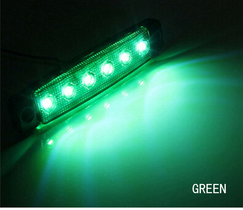 Marine Led Light Courtesy /& Utility Strip for Boats 12 Volts Green Pair of 2