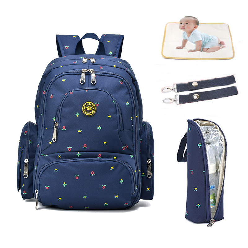 Nappy Changing Bag Backpack,Large Capacity Baby Diaper Bag Waterproof Travel Backpack Rucksack for Mom and Dad Blue Point
