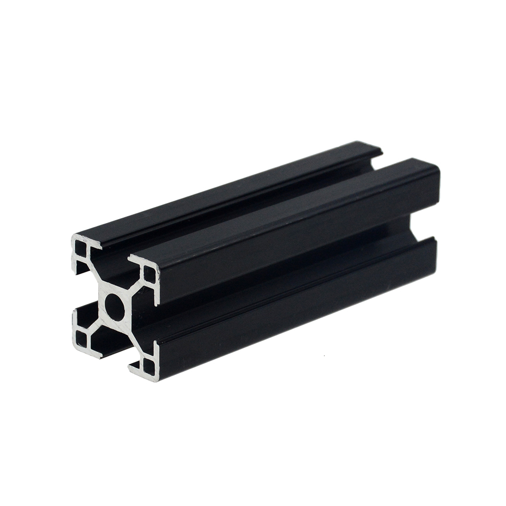 1PC BLACK 3030 European Standard Anodized Aluminum Profile Extrusion 100-800mm Length Linear Rail For CNC 3D Printer