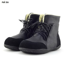 Children'S Genuine Leather Boots New Winter Boys Snow Boots