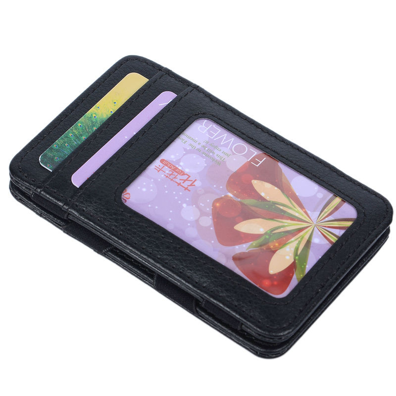 New Style Money Clip Magic Wallet Card Holder Kreditkortskal med - Plånböcker - Foto 4
