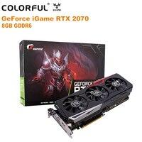 Оригинальный красочный GeForce iGame RTX 2070 Ultra 8 Гб видеокарта NVIDIA 12nm 1620 МГц GDDR6 256Bit 2304 CUDA три вентилятора HDMI