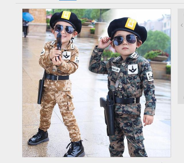 4e34447f1138 2016 Primavera Autunno Ragazzini Moda Abbigliamento Mimetico Set Del  Capretto Del Bambino Uniforme Militare Vestiti Vestito