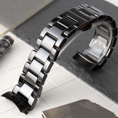 Bracelet en céramique noir 22mm pour Bracelet de remplacement Samsung Gear s3