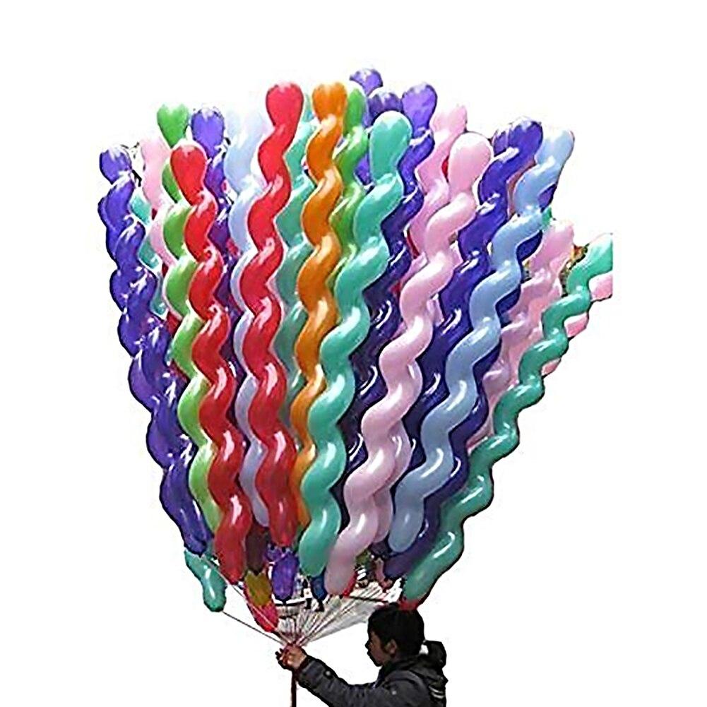 50 шт. латексные спиральные надувные шарики 50 дюймов, красочные уникальные витые латексные шары для дня рождения, свадьбы, фестиваля, вечерни...