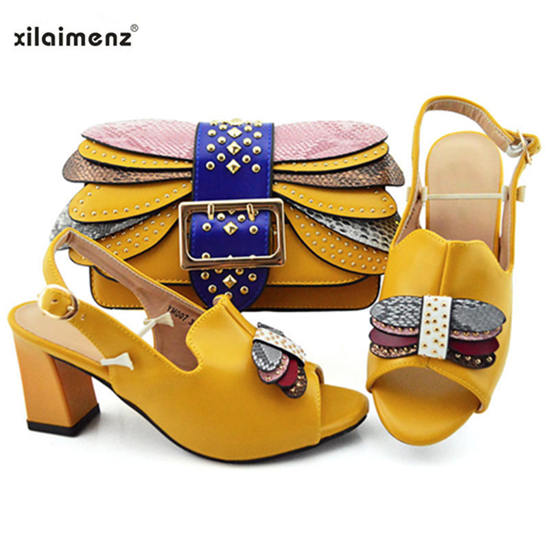 2019 Italian Arrivals Matching Shoes and Bag Set In Heels Matching Shoes and Bag Set for