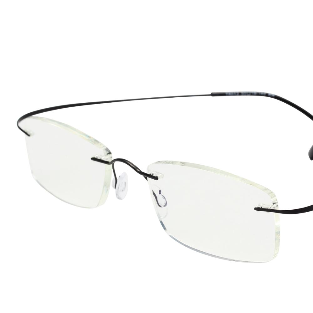 Pure Titanium Frame Magnetic Reading <font><b>Glasses</b></font> Men Women Diopter Presbyopic Elderly Eyeglasses rotate 360 degrees without frame image