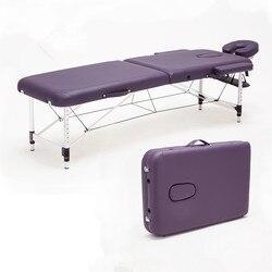 Masaje y relajación de aluminio mesa de masaje relajante portátil con cuna de cara ajustable SPA cama tatuaje muebles de salón plegables