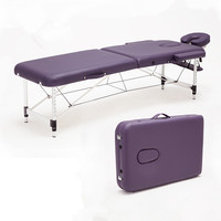 Massage Relaxation Aluminum Portable Relaxing Massage Table With Adjustable Face Cradle SPA Bed Tattoo Folding Salon