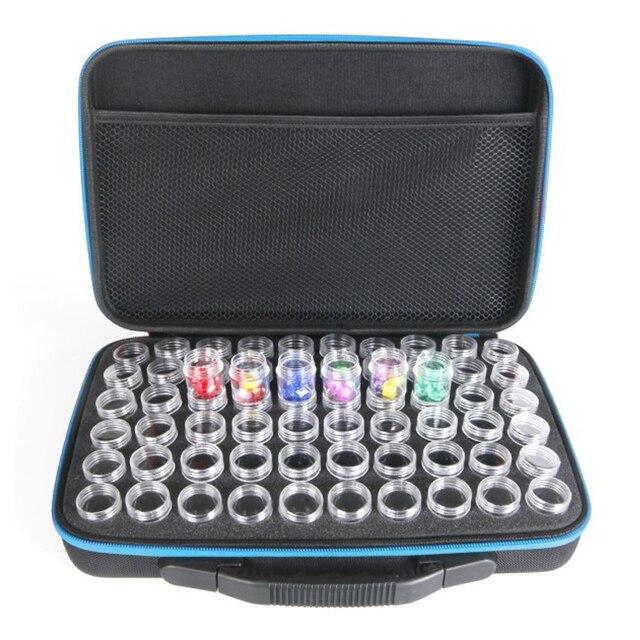 2019 nuovo 60 Bottiglie di Pittura Diamante Tool Box Contenitore Scatola di Imma