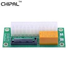 Chipal atx 24pin para 15pin sata psu cartão fonte de alimentação dupla sincronização starter extensor cabo adaptador para bitcoin litecoin mineiro
