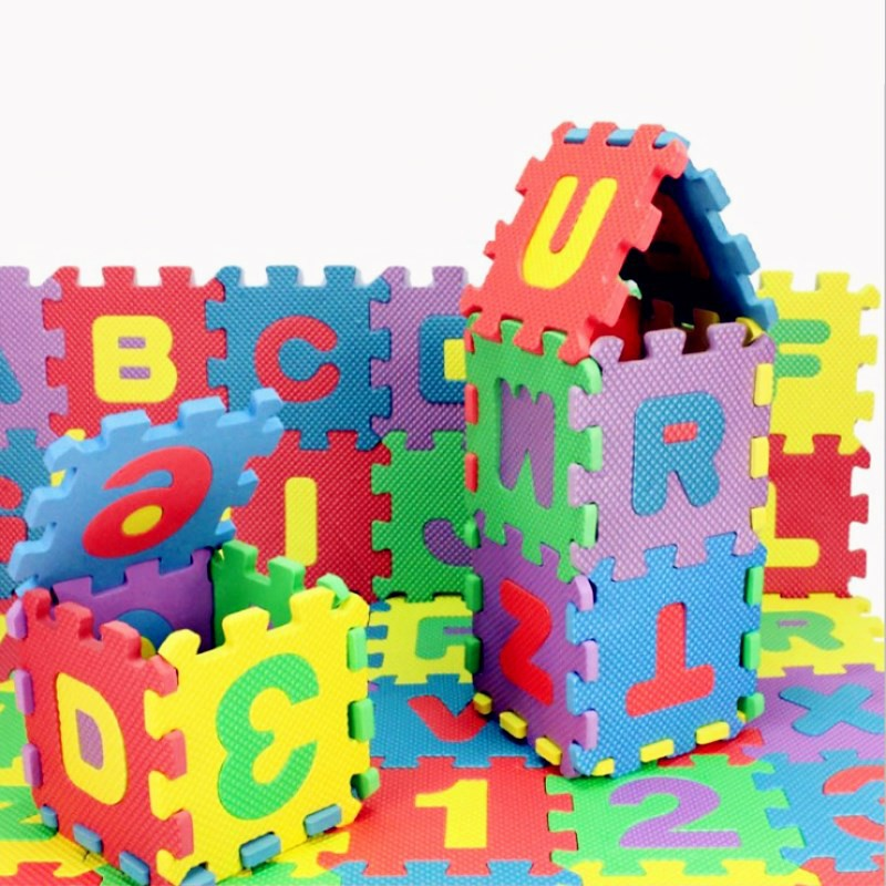 36 Pcs/Set 3D Puzzle Jigsaw Kids Children Mini EVA Foam Alphabet Letters Numbers Floor Soft Educational Toys Baby Play Mat Toy