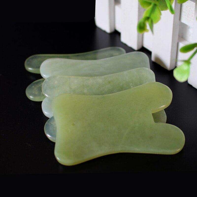 Natural Jade Massage Tool Guasha Board Gua Sha Facial Treatment Natural Jade Stone Scrap ...