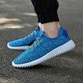 Homens Sapatos Novos 2016 Homens Verão Malha Respirável Sapatos Da Moda Rendas Até Sapatos Confortáveis Apartamentos Casuais Ao Ar Livre Zapatos 2A