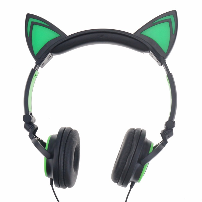Earphones cat ears - earphones with microphone bulk