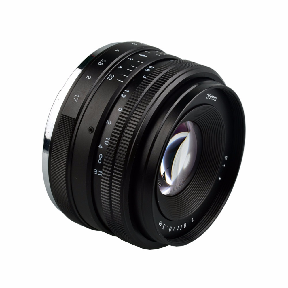 Lightdow 35mm F1.7-F22 Manual Lens for Sony Mirror Less E Mount NEX 3 3N C3 5N 5R 5T A6500 A6300 A6000 A5100 A5000 A3000 A3500 wide angle 35mm 35 f1 7 manual lens for sony nex3n nex5t nex6 nex7 nex f3 nex c3 a3000 a5000 a5100 a6000 camera silver