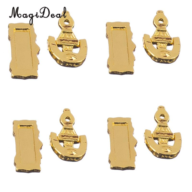 MagiDeal High Quality 1Set 1/12 Scale Dolls House Miniature Furniture Door Knocker Mail Slot Letter Box For Acce Kids Toys Gold