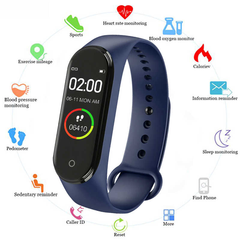 Color Screen Smart Bracelet Blood Pressure & Heart Rate Monitor Smart Wristand with Call Message Reminder Bluetooth Smart Watch